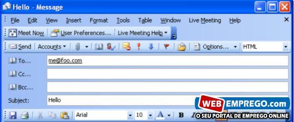 Como escrever um email formal